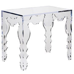 Contemporary Console Table in Acrylic