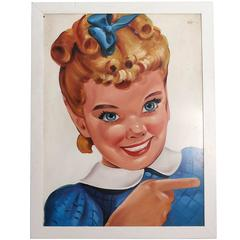 """Sunbeam Bread Girl"" Large Trade Sign"