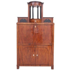 Antique Swedish Karl Johan Biedermeier Secretary in Mahogany, circa 1820