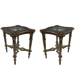 20th Century Side Tables, Pair