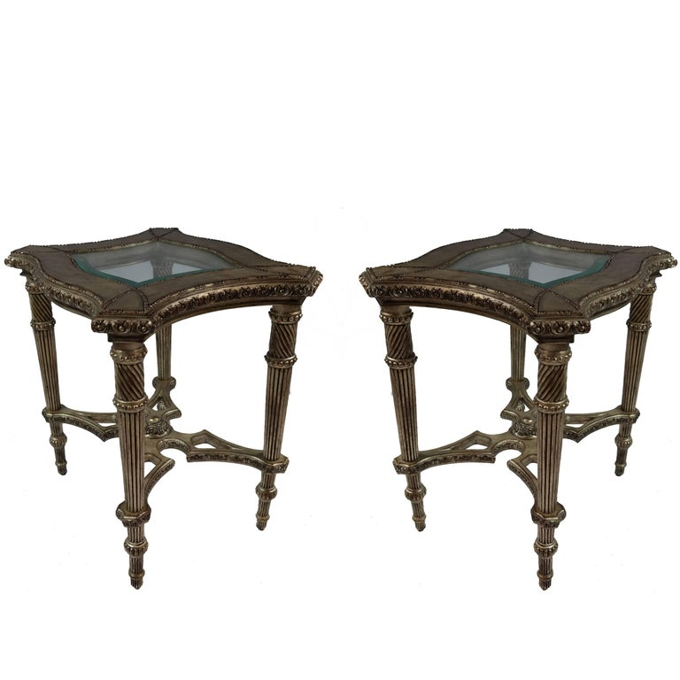 20th Century Side Tables, Pair For Sale