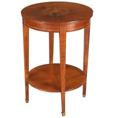 French Louis XVI Style Mahogany Side Table, 1900s
