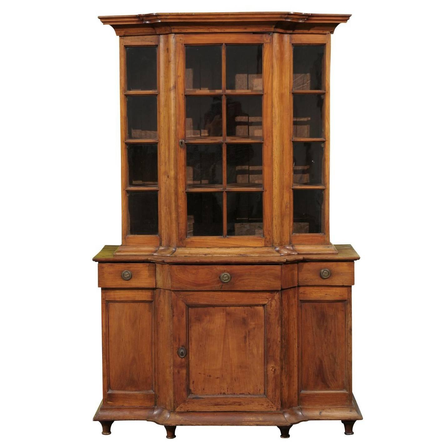 French Glass Kitchen Cabinet Doors: Early French Cabinet With Glass Door At 1stdibs