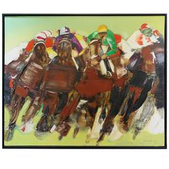 "Oil on Canvas Painting Titled ""Derby"" by Christian Jaureguy"