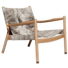 Erickson Aesthetics  Slung Brindle Oak Lounge Chair