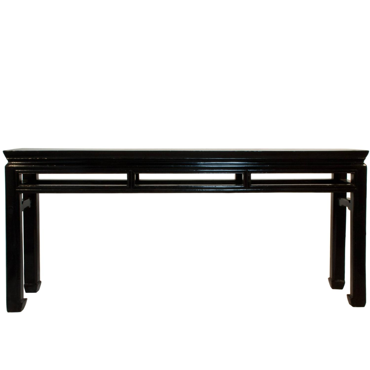 Black Lacquered Shanxi Console Table At 1stdibs