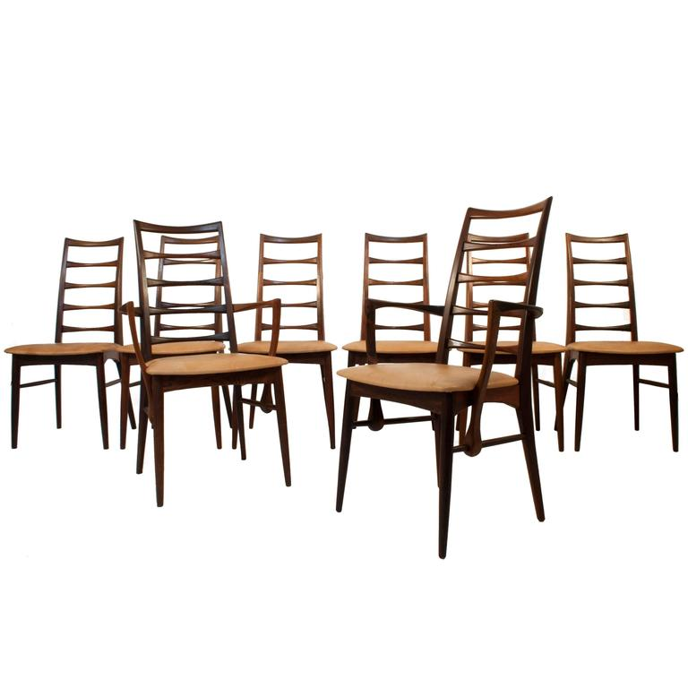 this set of eight dining chairs by niels kofoed is no longer available