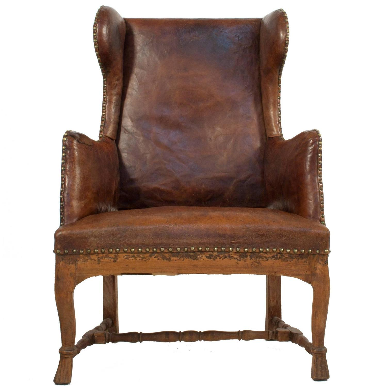 how to make a leather wingback chair
