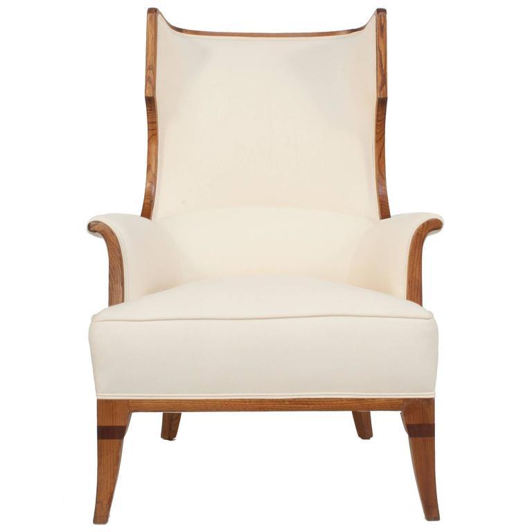 Swedish Grace Wingback Chair 1