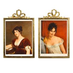 Pair of Louis XVI Style Brass Frames, Early 1900s