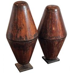 Antique French Wooden Hat Mold Accessories