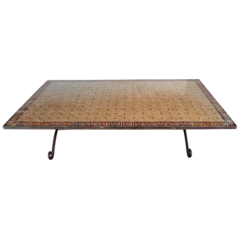 Safari Mosaic Tile Garden Coffee Table Circa 1930s For Sale At 1stdibs