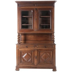 French Walnut Buffet A Deux Corps