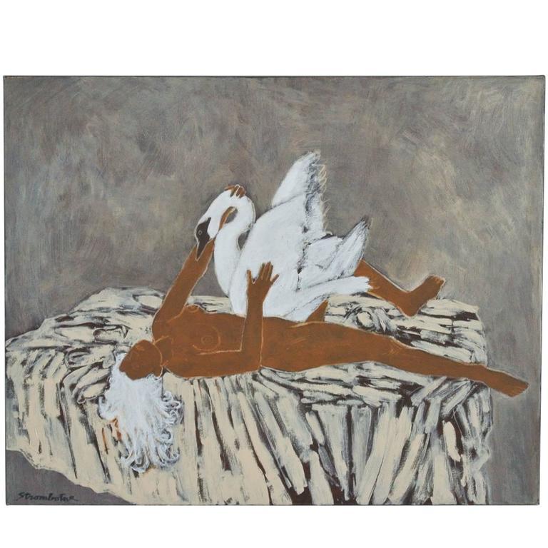 """Leda"" Painting by James Strombotne For Sale at 1stdibs"