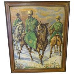 Cossacks on Horseback Painting, 1945