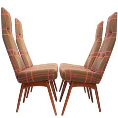 Adrian Pearsall 1960s High Back Dining Chairs