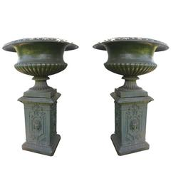 Monumental Scale Northern European Iron Urns