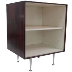George Nelson Rosewood Thin Edge Open Storage Cabinet, USA 1950s
