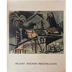 Modern French Mourlot Picasso Exhibition Poster, Avignon Prolongation