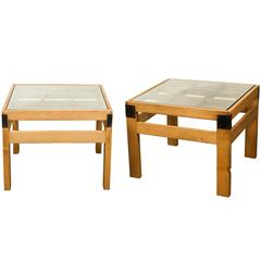 Limited Edition Jefferson West Pair of Grid Coffee Tables
