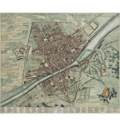 La Ville de Florence Map, 1690