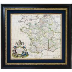 1719 Hand-Colored Map of France by John Senex