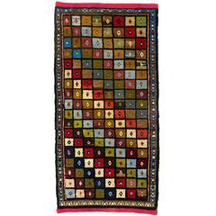 Colorful Mid-Century Modern Turkish Rug