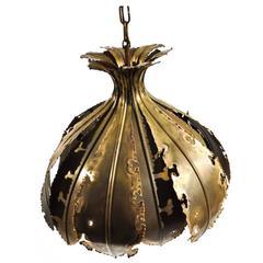 Danish Brutalist Pendant Lamp