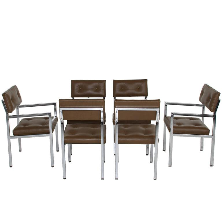 green tufted leather and chrome dining chairs is no longer available