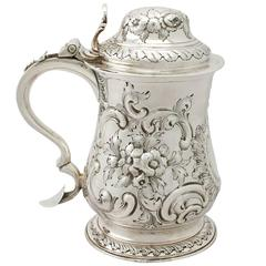 Sterling Silver Quart Tankard by William Grundy - Antique George III