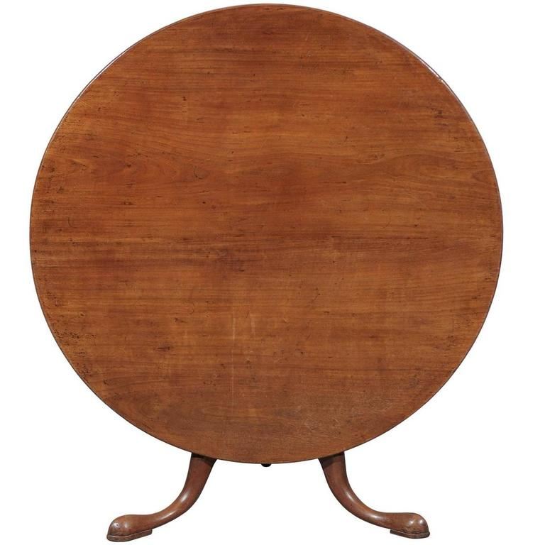unusually large english round tilt top table in mahogany with pad feet for sale at 1stdibs. Black Bedroom Furniture Sets. Home Design Ideas
