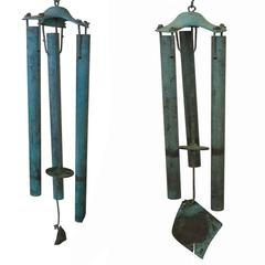 Bronze Modernist Wind Chimes by Walter Lamb