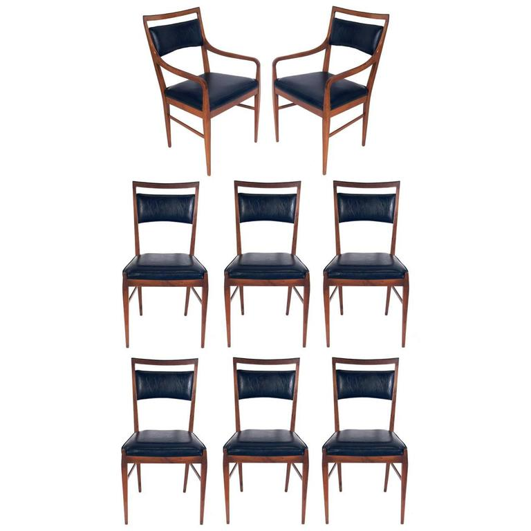 Set of Eight Modern Dining Chairs by Paul McCobb for Calvin