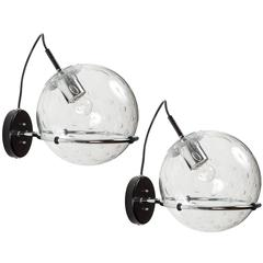 Pair of RAAK Bubble Glass Sconces