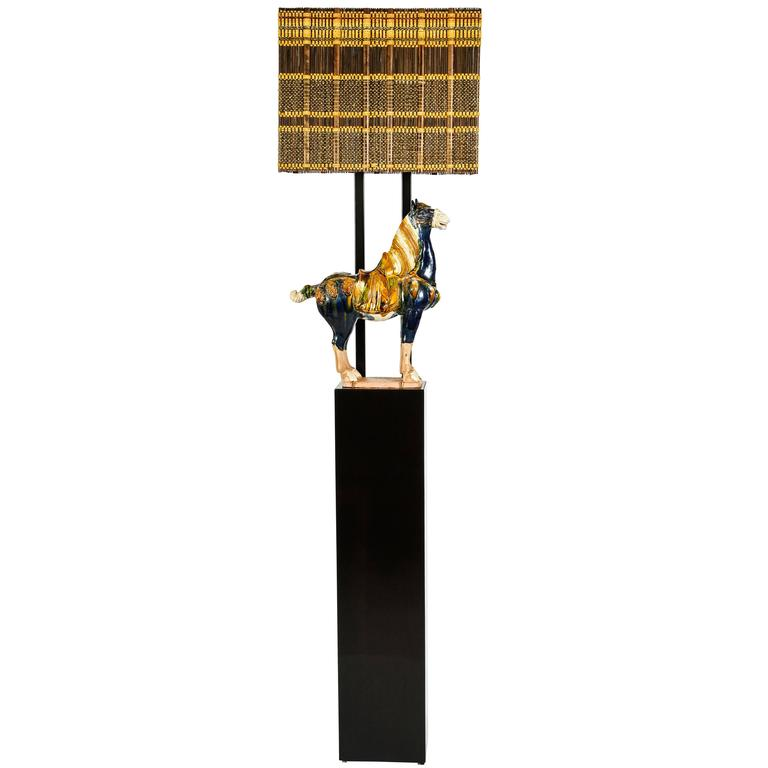 Armature Floor Lamp with Horse by William Haines