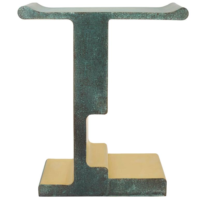 'XiangSheng Side Table #1', Bronze Table by Studio MVW - In Stock