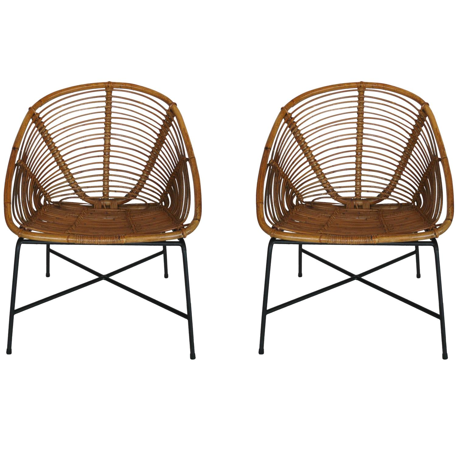French Rattan Chairs At 1stdibs