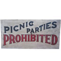 'Picnic' Sign, circa 1930