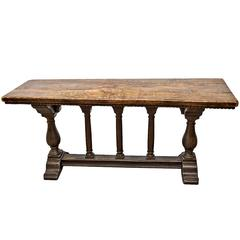 Italian Antique Baroque Style Trestle Table