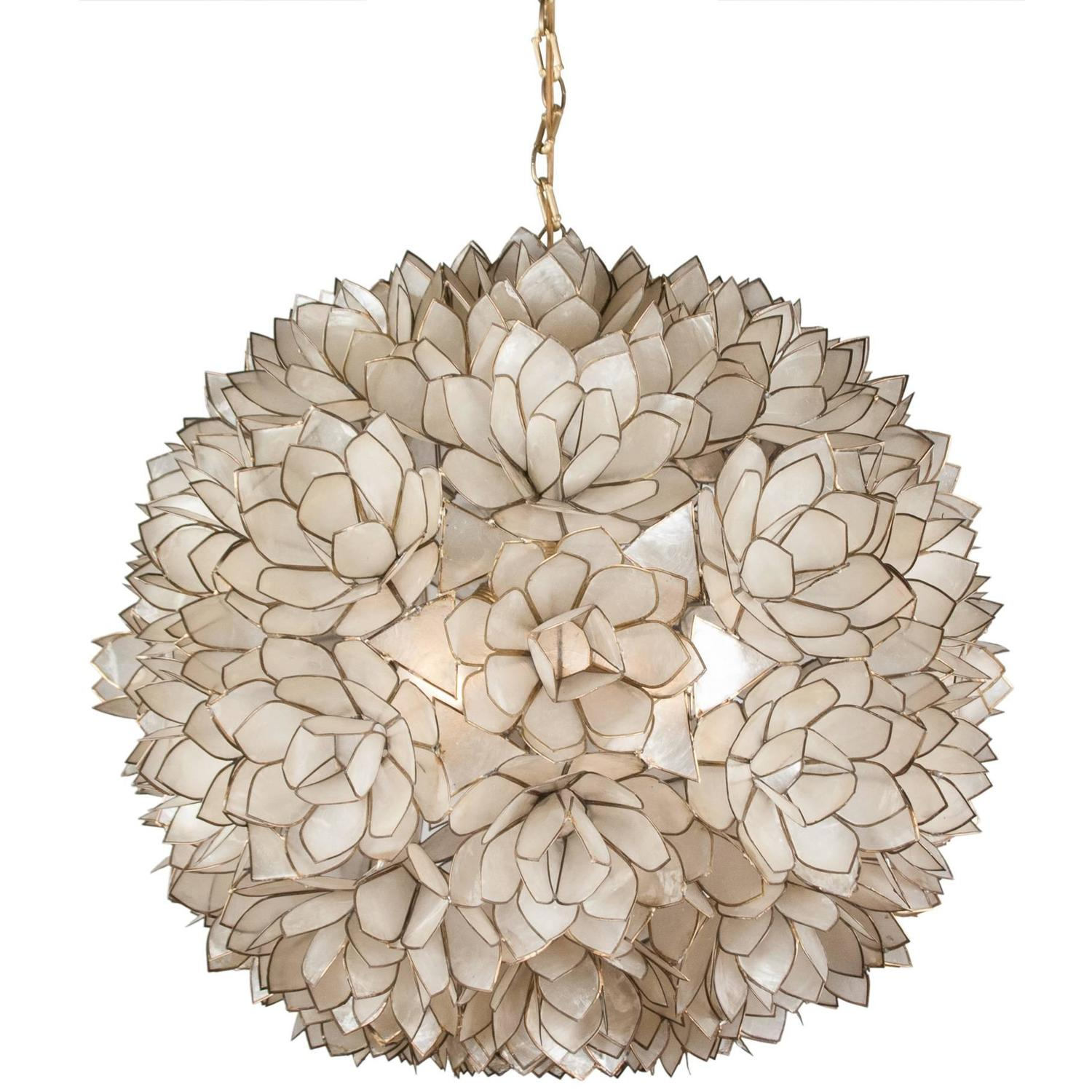 Globe Capiz Shell Chandelier French 1960s For Sale At