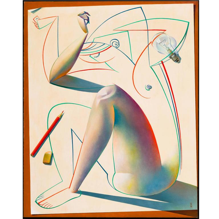 Original Oil on Canvas Painting by Georgy Kurasov For Sale