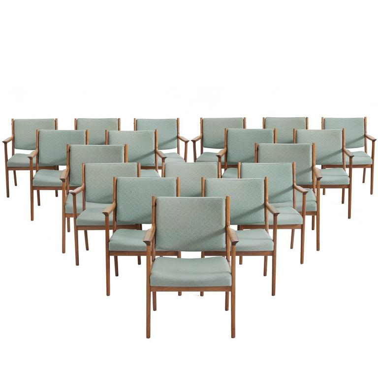 Very Large Set of Teak Armchairs, Sweden, 1960s