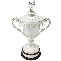 Sterling Silver Presentation/Champagne Cup and Cover - Antique Victorian