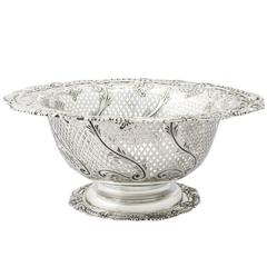 Antique Sterling Silver Fruit Dish
