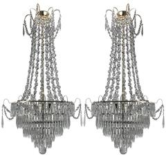Pair of Swedish Chandeliers
