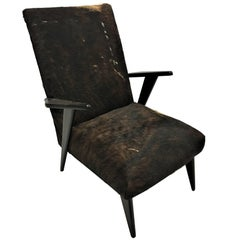 Pair of Italian Mid-Century Modern Lounge Chairs Attributed to Ico Parisi