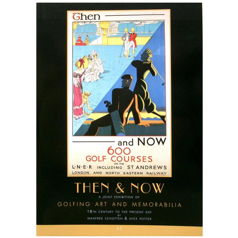 Golfing Catalogue, 'Then and Now' For Sale