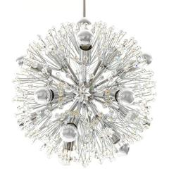 Emil Stejnar Sputnik Chandelier Crystal Nickel Chrome Blowball, Austria, 1960s