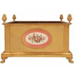 French 19th Century Louis XVI Style Ormolu Jardinière with 18th Century Sèvres