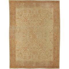 Antique circa 1890 Turkish Oushak Rug